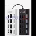 USB HUB скоростной хаб на 4 порта с выключателями