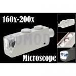 Светодиодный карманный микроскоп 160x-200x